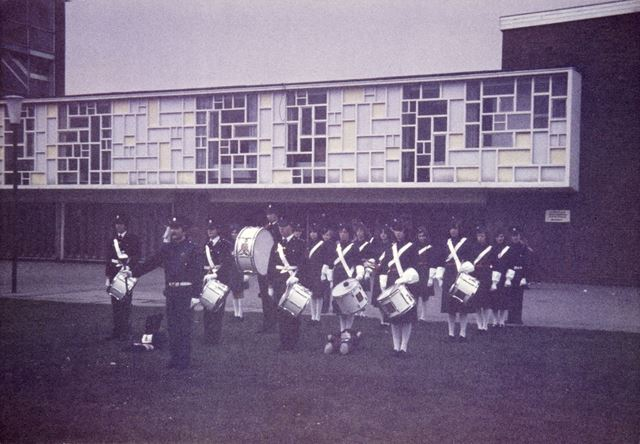 Marching Band, Mill Hill School, Ripley, 1978
