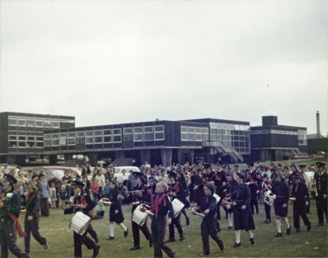 Marching Band, Mill Hill School, Ripley, 1977
