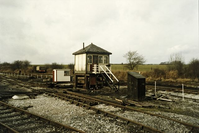 Signal Box, Midlands Railway Centre, Butterley, c 1986