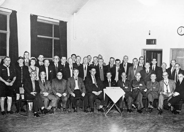 A Large Gathering in the Church Hall, Moseley Street, Ripley, c 1950