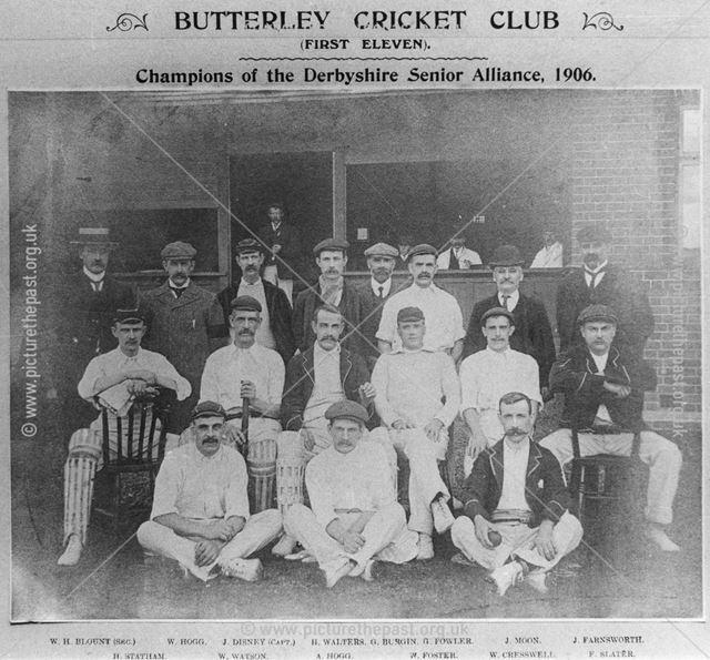 Butterley Cricket Club, Butterley, 1906