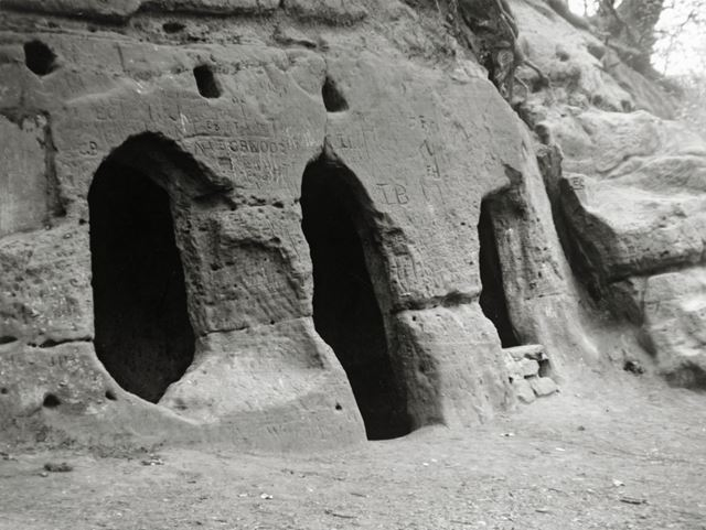 Hermits Cave, The Hermitage, Dale, c 1900