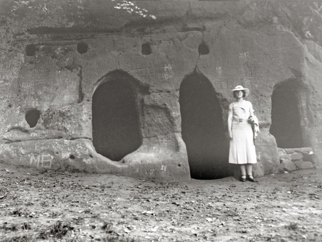 Hermits Cave, The Hermitage, Dale, c 1940s