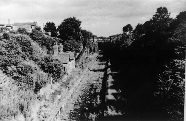 Ripley Station and Track, Nottingham Road, Ripley, c 1960s