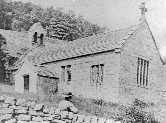 Old Brackenfield Church, off Church Lane, Brackenfield, c 1930