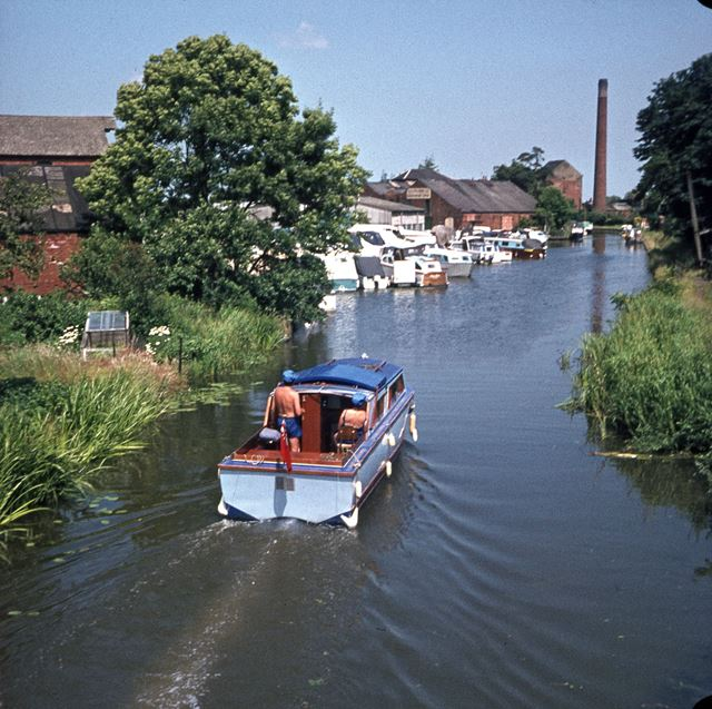 Looking Towards the Grain Mill, Shardlow Canal, Shardlow, 1960s-1970s
