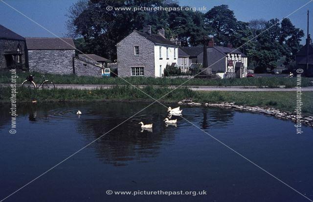 Pond and Bulls Head Public House, Bradshaw Lane, Foolow, 1960s