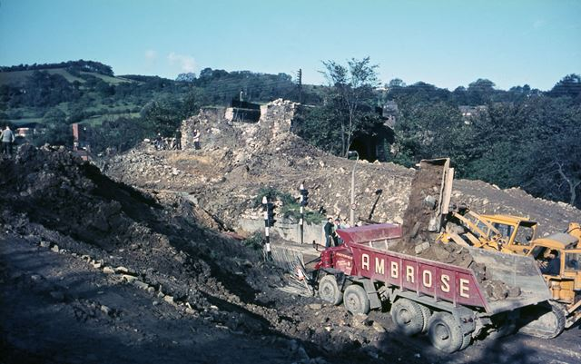 Demolition of Cromford Canal Aqueduct, Ripley Road, Bullbridge, 1968