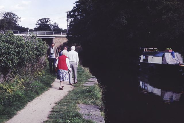 Peak Forest Canal at Bridgemont, Whaley Bridge, 1990