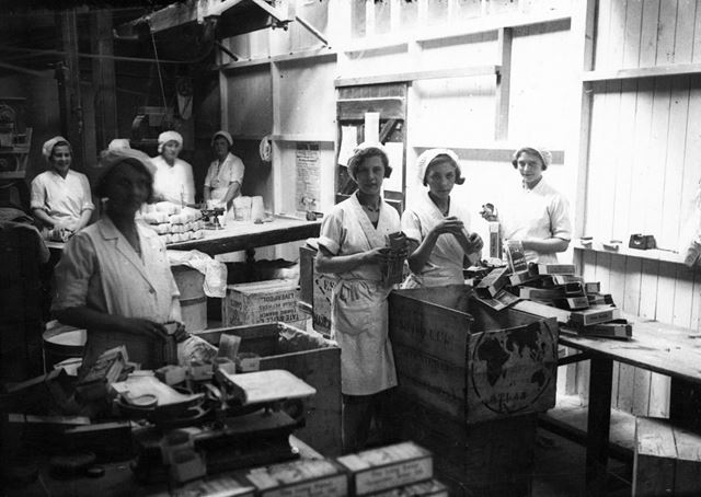 Long Eaton Co-operative Society Packing Room, Station Street, c 1935