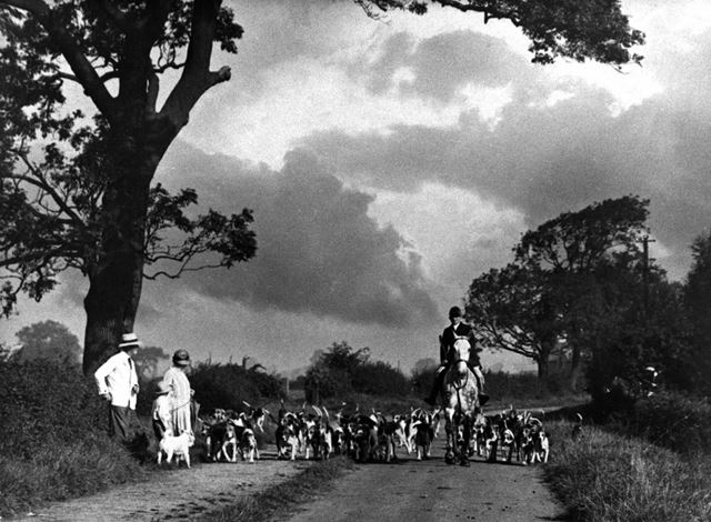 The Harrington Hunt, Church Wilne, c 1930 ?