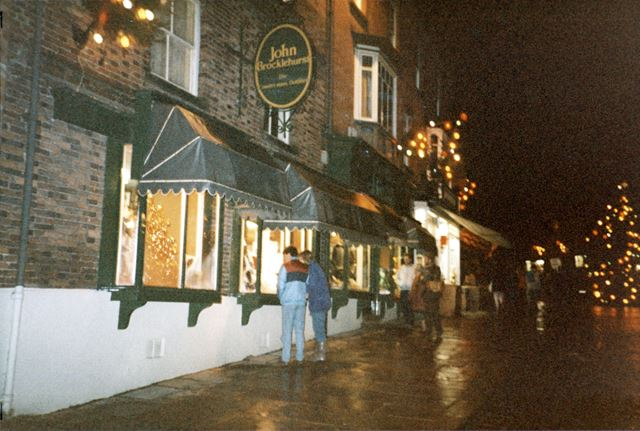 Late Night Christmas Shopping, Market Place, Ashbourne
