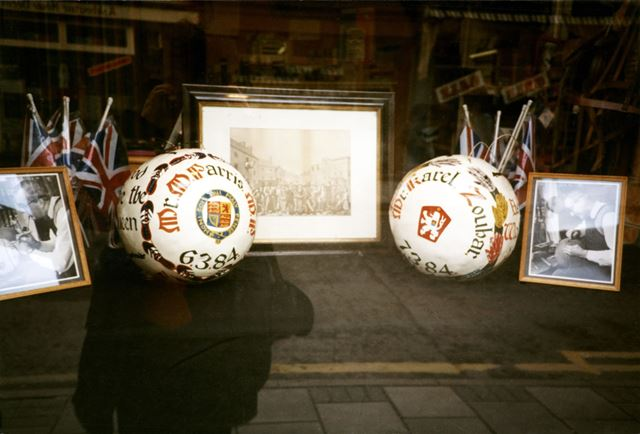 Shrovetide Football Game: Balls and memorabilia (balls dated 6th and 7th March 1984)