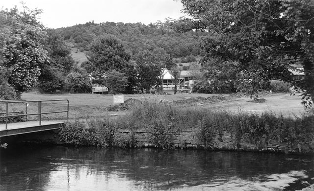 Smiths Island car park by the River Wye