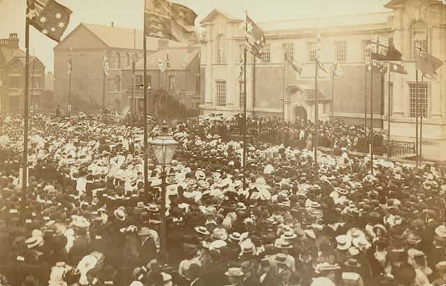 Opening ceremony of Ilkeston Library