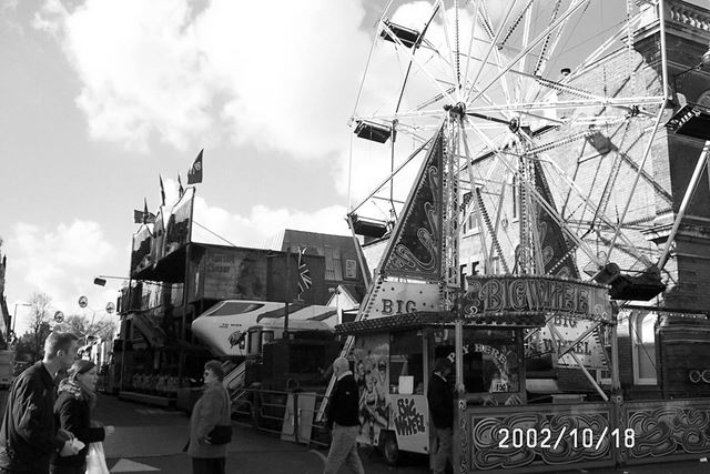 Ilkeston Fair, Big wheel and Town Hall