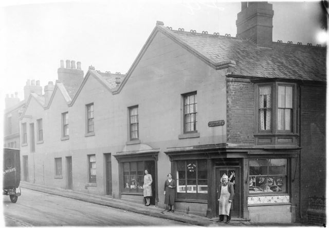 James Austin's Butchers shop on the corner of Norman Street and Charlotte Street, Ilkeston