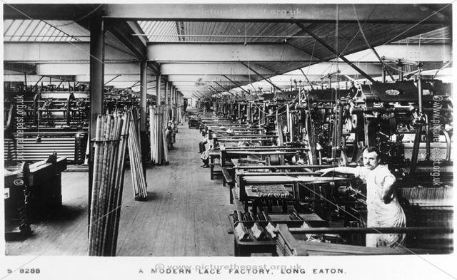 A modern Lace Factory, Long Eaton, c 1910s