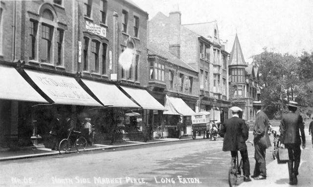 West side of the Market Place, Long Eaton