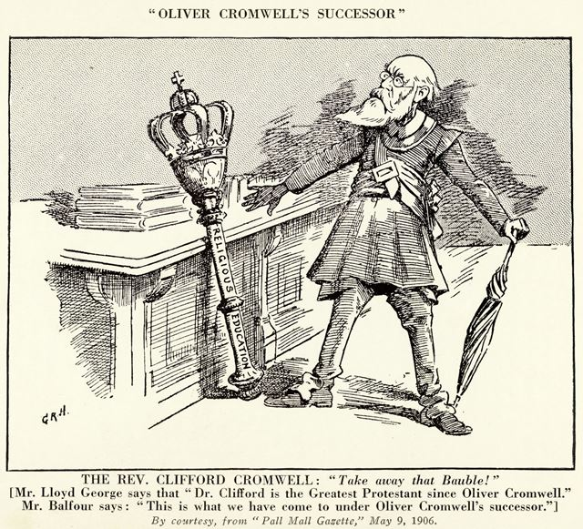 John Clifford (1836-1923) - cartoon