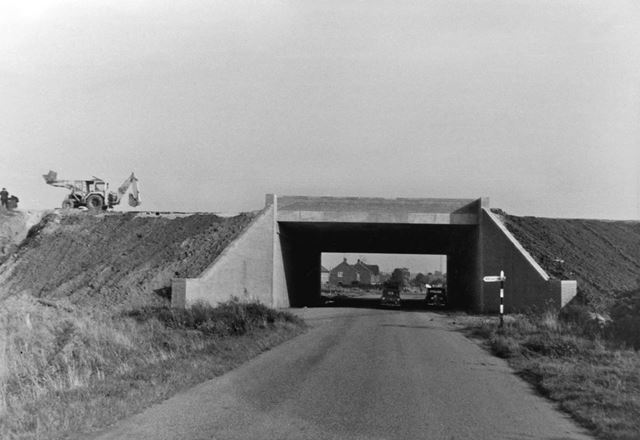 Construction of the M1 Motorway at Sawley Lane/Draycott Road, Long Eaton