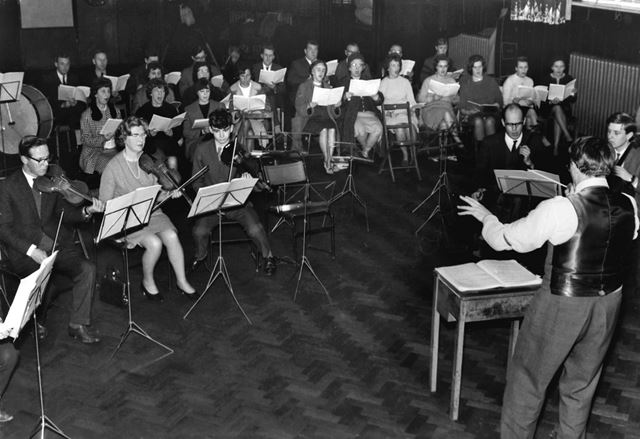 Festival Orchestra and Choir rehearsing for the Festival of Music