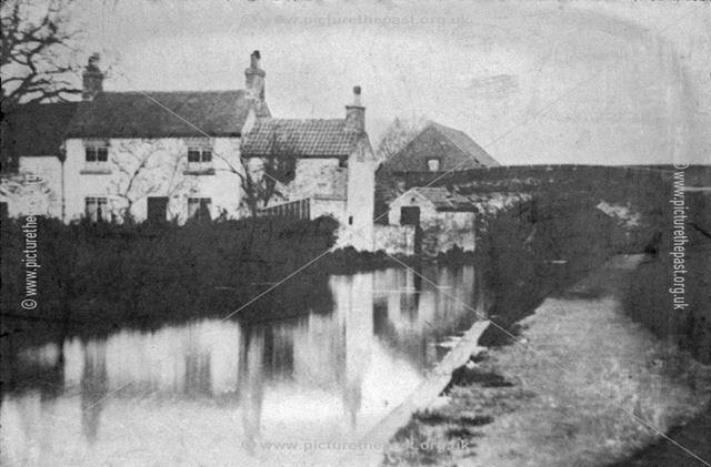 Straw's Bridge and Nutbrook Canal, Derby Road, Ilkeston, c 1930