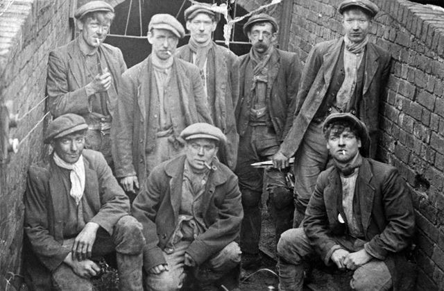 Ockbrook men working at Dale Abbey Colliery, c 1910s-21