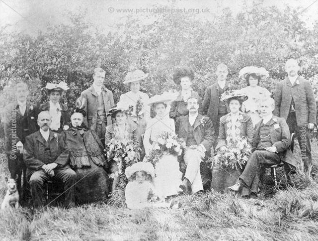 Wedding of Evelyn Charlton to Fred. Cranton, 1898