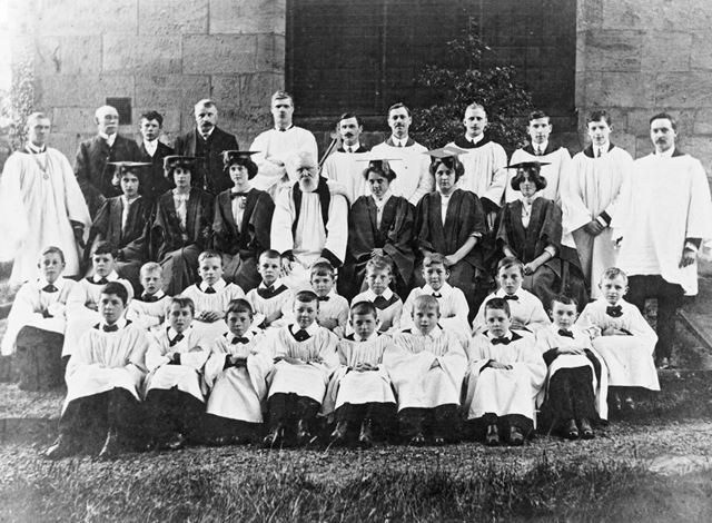 Ockbrook Church Choir, September 1913