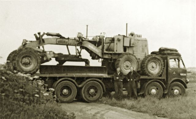 Carlisle Grader at Waddington Airfield, RAF Waddington, Lincolnshire, c 1954