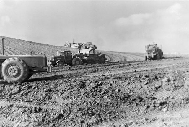 Opencast Coal Site at Stanleyc 1950s