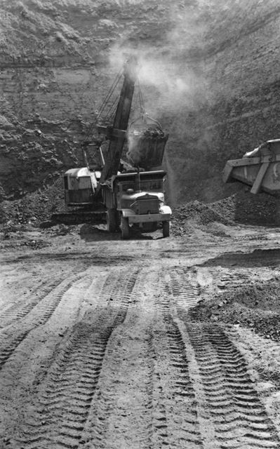 Willow Lea Opencast Coal Site at Smalley1950s