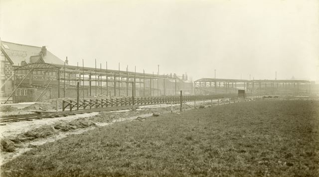 Greyhound Track under construction, Station Road, Long Eaton, 1928
