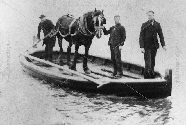 Horse Ferry, Trent Lock, Long Eaton, c 1900