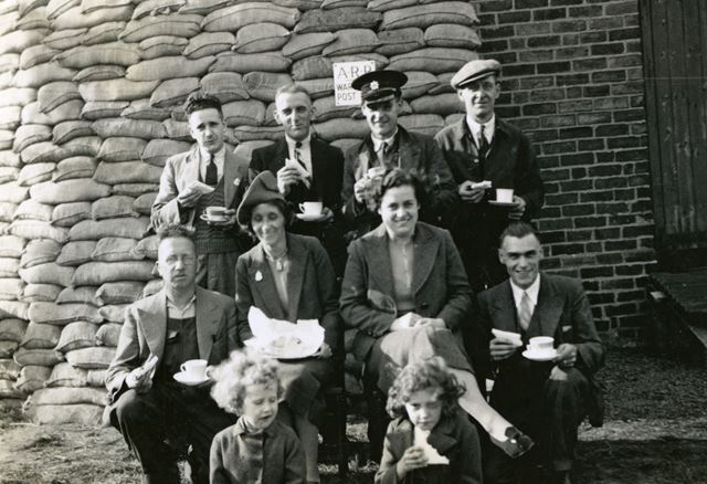 First Day of Air Raid Patrol at Cope's, Stanton Ironworks, c 1940
