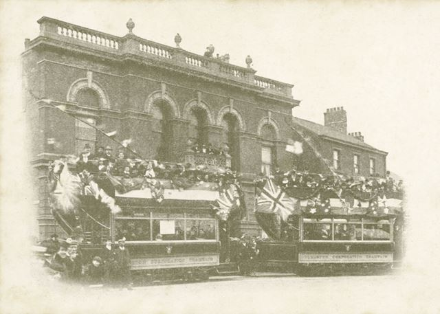 Inauguration of Ilkeston Tramways, Town Hall, Market Place, Ilkeston, 1903