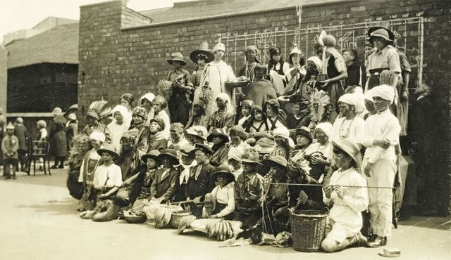 Empire Day at the National School, Claye Street, Long Eaton, 1926