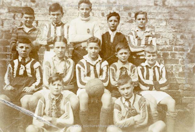 Football Team, National School, Claye Street, Long Eaton, 1933-4