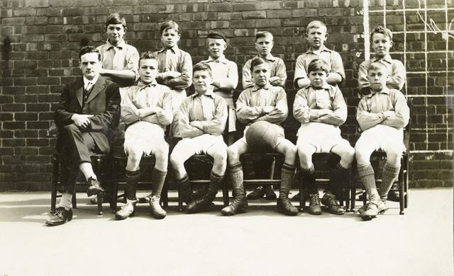 Football Team, National School, Claye Street, Long Eaton, c 1920s