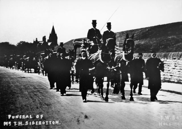 Funeral of T H Sidebottom