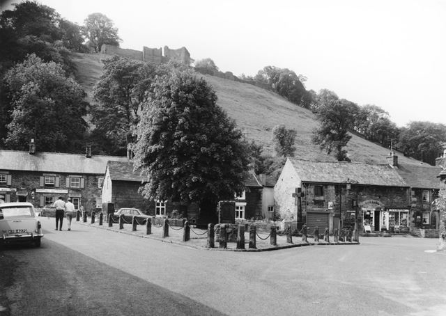 The Village Green, looking towards Peveril Castle