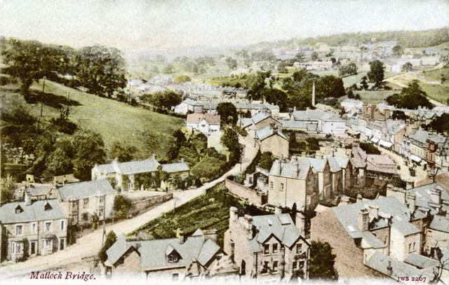 View over Matlock from the hillside above