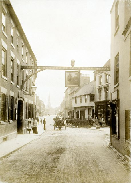 St John Street and the Green man and Black's Head hotel