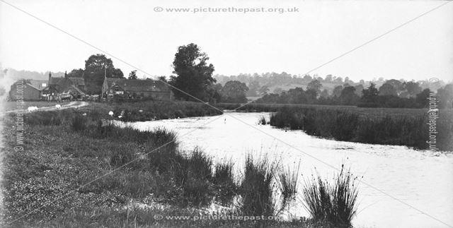 A farm next to the River Dove