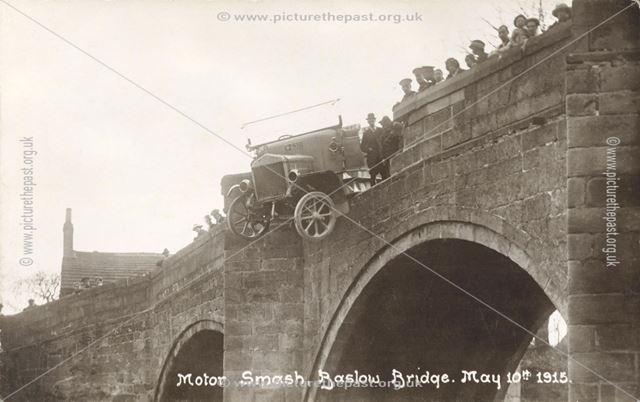 Motor Accident, Baslow Bridge, Baslow, 1915