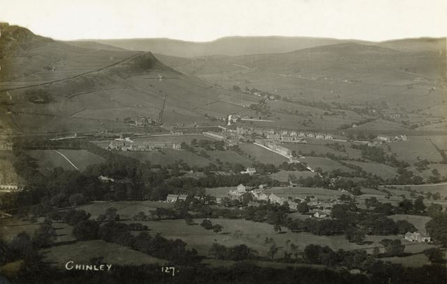 An aerial view of Chinley
