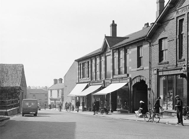 Shops and shoppers in North Road