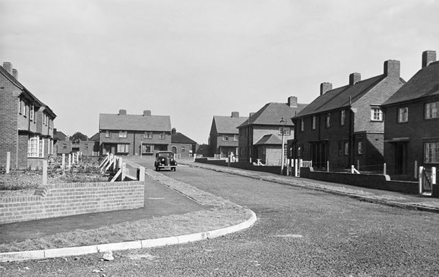 A post-war housing estate in Glapwell