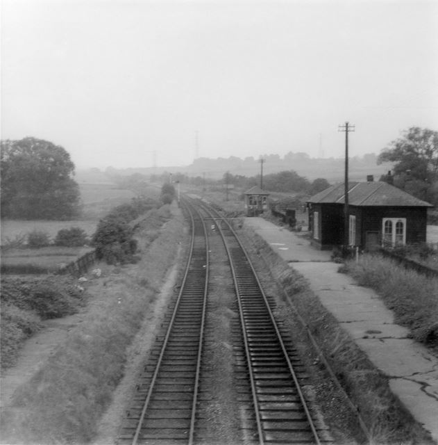 The old Midland Railway Station at King's Newton